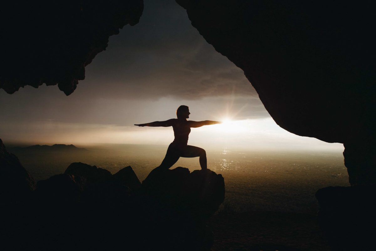 Yoga in the sunrise